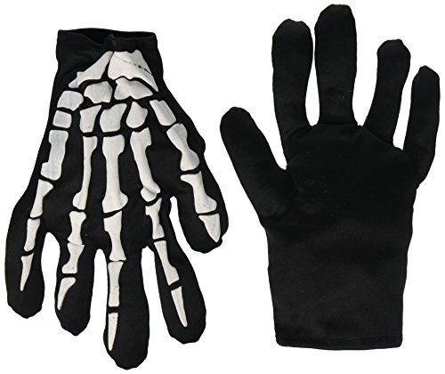 Forum Novelties 40133 Skeleton Gloves Gifts & (Halloween Grim Reaper Prank)