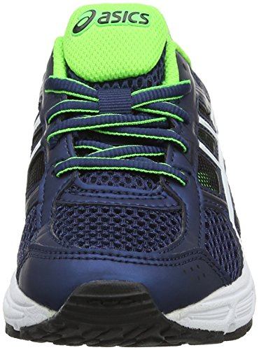 Asics Gel-Contend 4 GS, Zapatillas de Running Para Niños Azul (Dark Blue/white/green Gecko 4901)