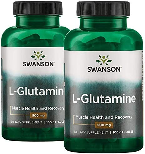 Swanson Amino Acid L-Glutamine 500 Milligrams 200 Capsules 2 Bottle
