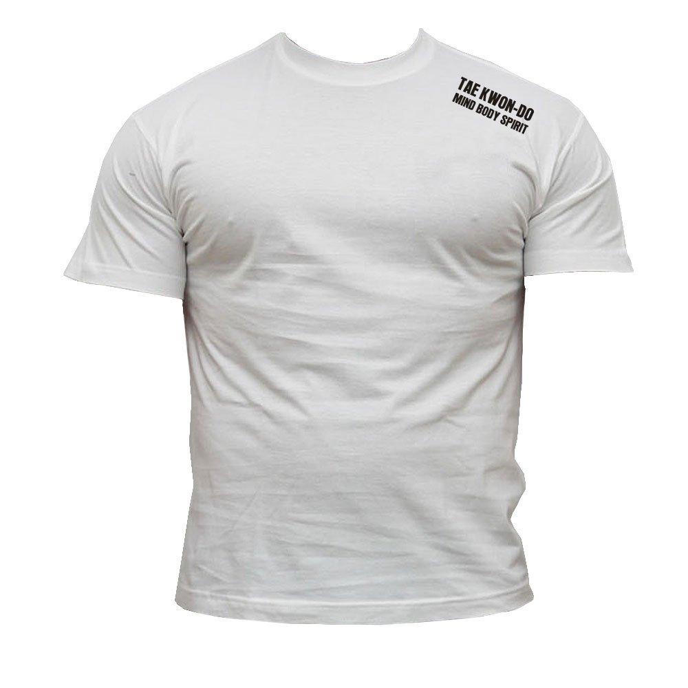 Dirty Ray Tae Kwon Do Mind Body Spirit t-Shirt Homme K39