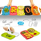 FLIP SNACK BOARD- Camping Plate, Cutting board. Perfect for Hiking, Outdoors, Backpacking or Kitchen. Lightweight, Compact, Microwave & Dishwasher Safe. Kids friendly, BPA free, made in Slovenia EU