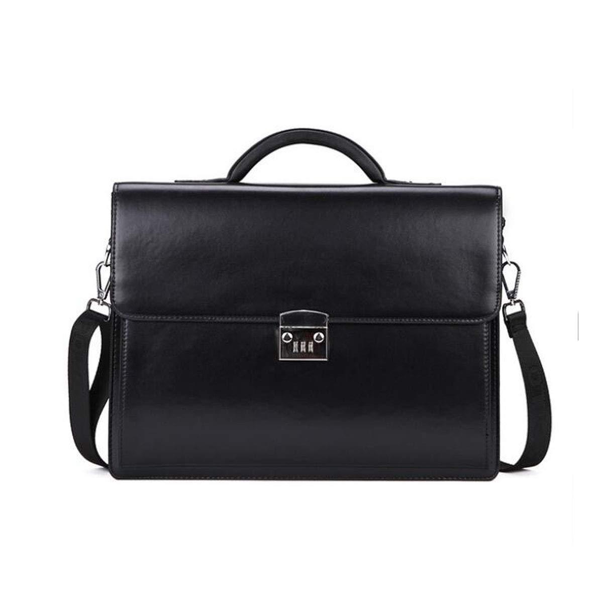 Jiansheng Briefcase One-Shoulder Diagonal Handbag with Anti-Theft Password Lock Placing Valuables Black Size: 36929cm Beautiful Suitable for Office Color : Brown