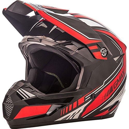 (GMAX unisex-adult full-face-helmet-style Helmet (Mx46 Uncle) (Black/Red,)