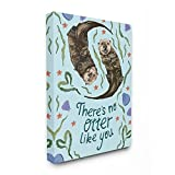 The Kids Room by Stupell There's No Otter Like You with Starfish and Clams Painting Typography Stretched Canvas Wall Art, Multicolor