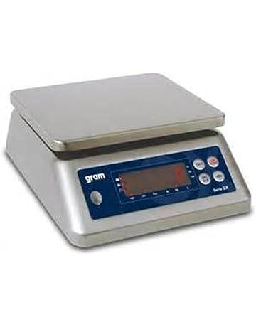 Balanzas industriales Gram Precision modelo GX-30K (30Kg/2g) dimensiones del plato