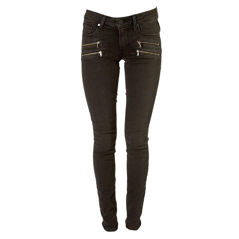 PAIGE Womens Edgemont Double Zip Skinny Jean