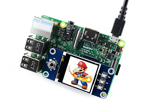 Amazon.com: waveshare 1.44inch LCD Display HAT 128x128 Pixel SPI Interface Direct-pluggable onto Raspberry Pi 2B/3B/3B+/Zero/Zero W with Examples for ...