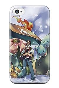 linJUN FENGMScfVDm7610foCTw Case Cover Ash And His Pokemon Iphone 4/4s Protective Case