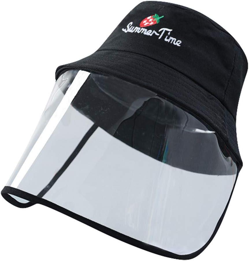 Capuch/ón de pescador impermeable al polvo aislante eficaz para el Virus portador de saliva FBGood Sombrero de protecci/ón anticragatos con pantalla transparente y casco de seguridad ajustable