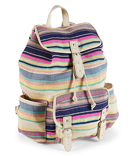 Aeropostale Womens Stripes Everyday Backpack