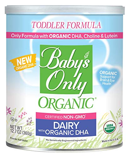 Baby's Only Dairy with DHA Toddler Formula - Non GMO, USDA Organic, Clean Label Project Verified, 12.7 oz