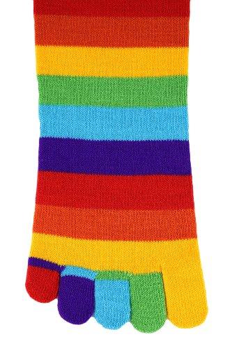 (Foot Traffic - Toe Socks, Rainbow)