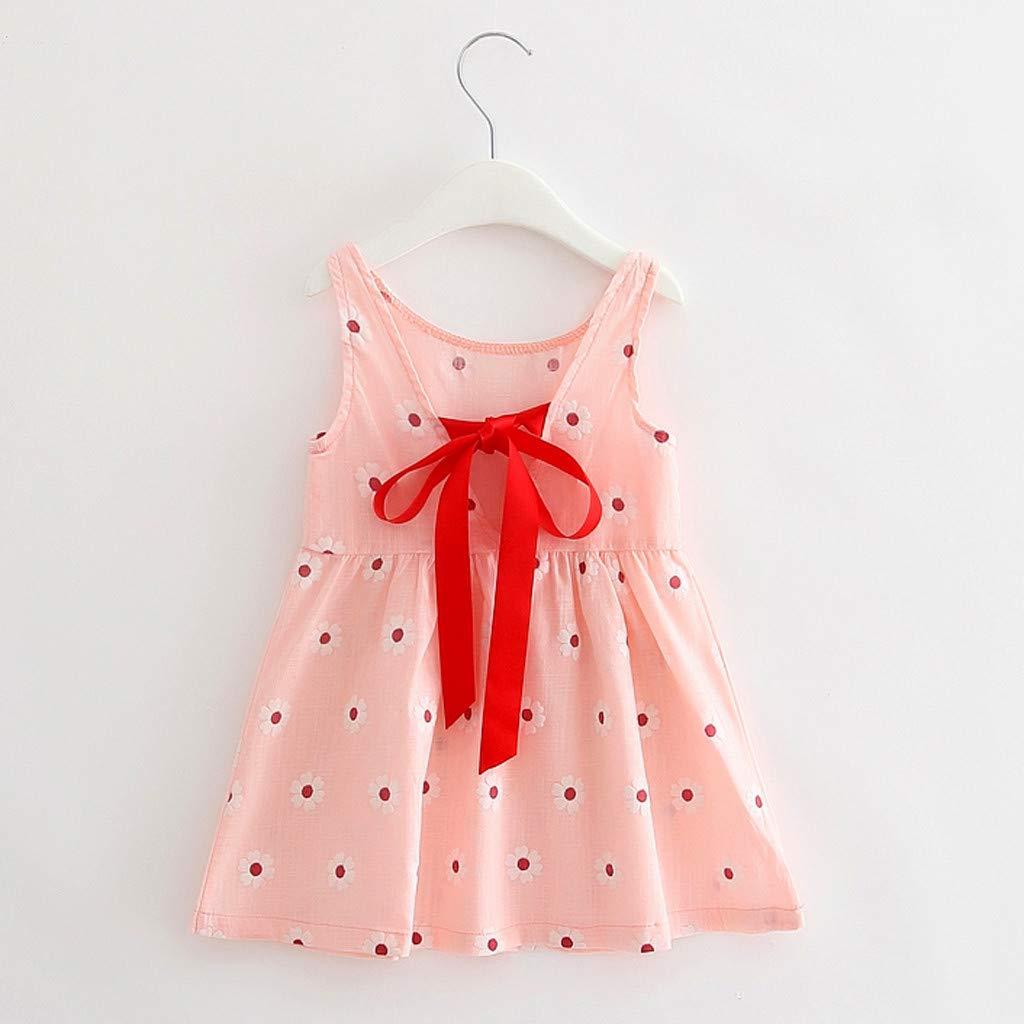 Amlaiworld Vestido de ni/ña beb/é Vestido de Princesa sin Mangas Floral de Bowknot de Muchacha Beb/é Vestidos de Fiesta ni/ña Chica
