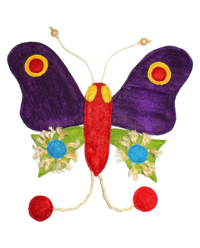 Eco-Loofah Original Play and Scratch Station Pet Toy, Butterfly Design Review