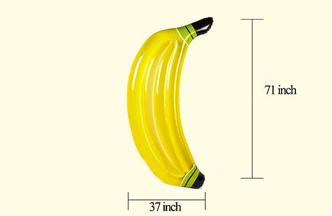 Flotador Inflable De La Piscina Banana Giant Drifter Mat con Válvulas Rápidas Outdoor Summer Portable Water Sport Lounge Juguete Tumbonas Flotadores Playa ...