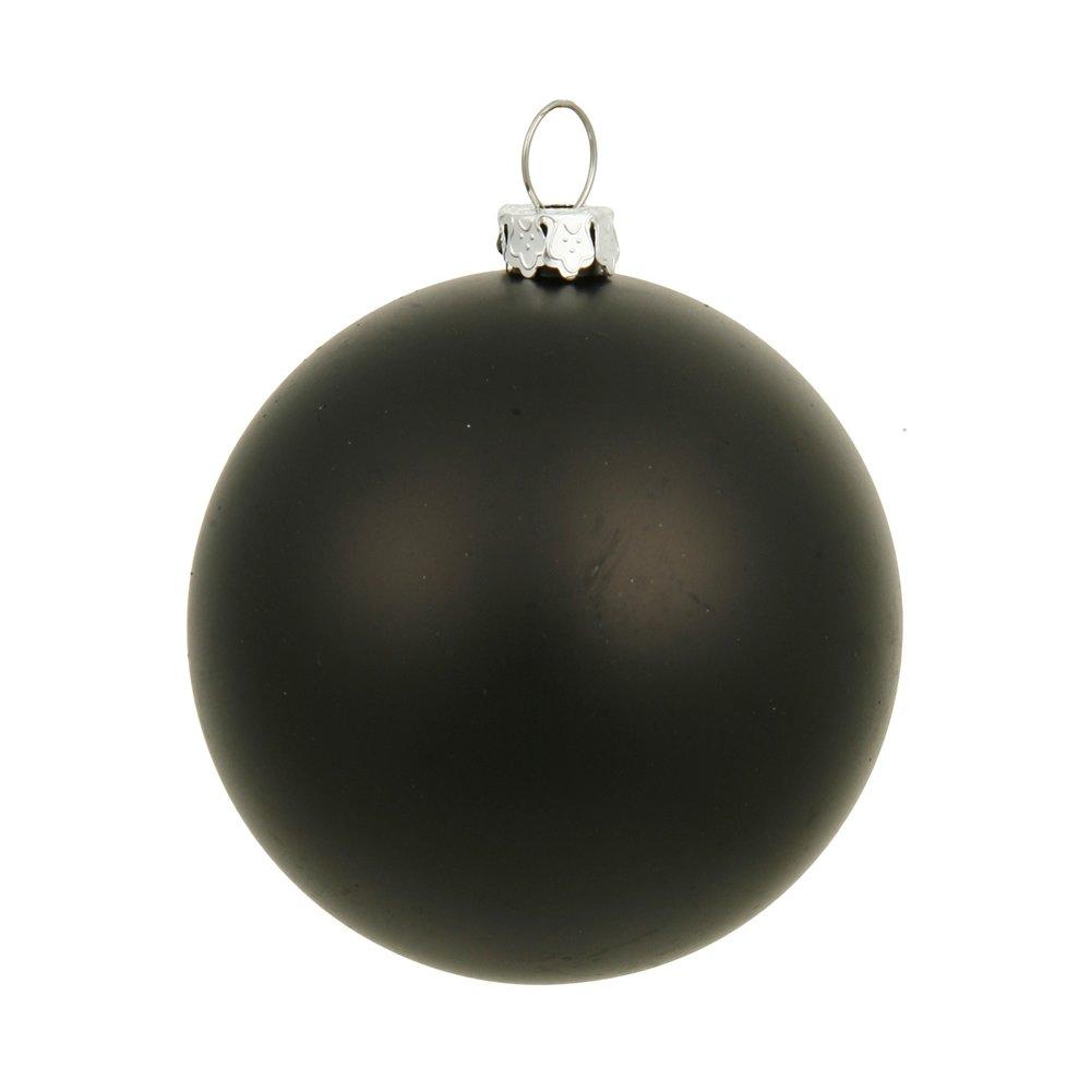 Vickerman Drilled UV Matte Ball Ornaments, 6-Inch, Black, 4-Pack