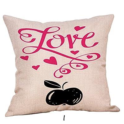 FORUU Throw Pillowcase, Happy Valentine Pillow Case Coverss Linen Sofa Cushion Home Decor Pillow Case Covers
