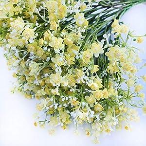 DALAMODA Artificial Baby Breath Gypsophilia Flowers (Pack of 10pcs Yellow)