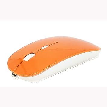 Vnlig Ratón portátil 2,4 G Ultrafino con Receptor USB, 3 Botones de Nivel dpi Ajustables para Ordenadores portátiles, Ordenadores, portátiles, etc.