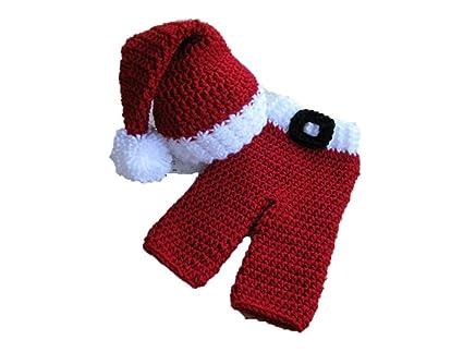 Matissa Bebé Santa Recién Nacido Bebé Niña/Niño Crochet Knit ...