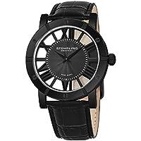 Winchester Mens Black Watch - Swiss Quartz Analog Date Wrist Watch for Men - Black IP Stainless Steel Mens Designer Watch with Black Genuine Leather Strap 881.03