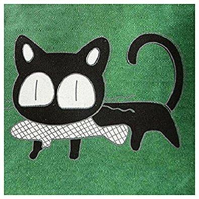 Simpatico Cartone Gatto Borse - TOOGOO(R)Modo Simpatico Cartone Animato Borsa Borse Delle Donne Del Gatto Di Tela Spalla Borsa (verde)