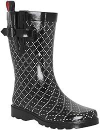 Ladies Umbrella Printed Mid- Calf Rain Boot