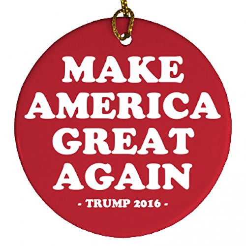 Make America Great Xmas: Porcelain Circle Ornament