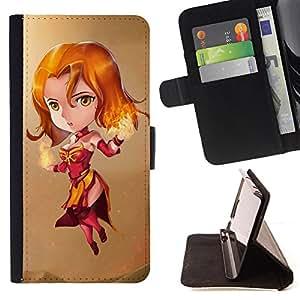 - Magic Anime Princess Fire - Estilo PU billetera de cuero del soporte del tir???¡¯????n [solapa de cierre] Cubierta- For Sony Xperia M2 £¨ Devil Case £©