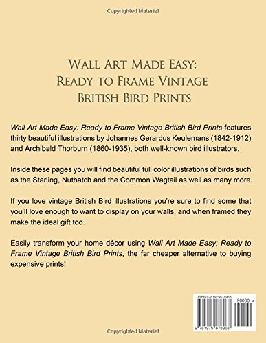 Wall Art Made Easy: Ready to Frame Vintage British Bird Prints: 30 ...