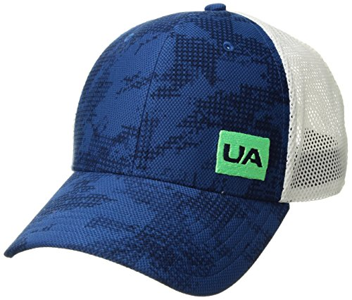 Under Armour Mesh Visor - Under Armour Men's Blitzing Trucker 3.0 Cap, Academy (408)/Arena Green, One Size