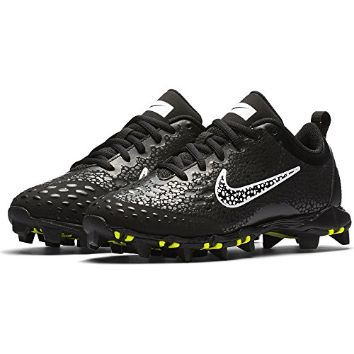 NIKE Girl's Hyperdiamond 2 Keystone Softball Cleat Black/White/Anthracite Size 4.5 M US by NIKE