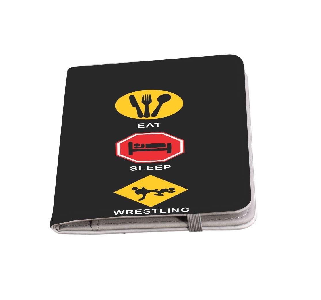 Rikki Knight Eat Sleep Wrestling Passport Holder with slots for Travel documents