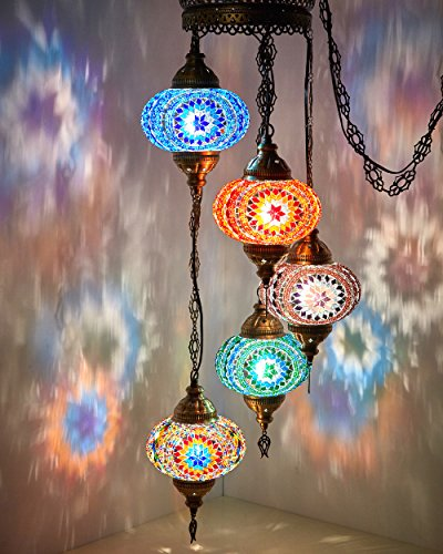 Mosaic Lamps, Turkish Lamp, Moroccan Lamps, Chandeliers, Pendant Lights, Hanging Lamps, Living Room Decor, Bohemian Style, Home Furnishings, Restaurant Decoration ()