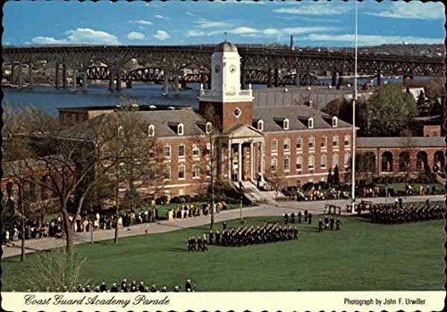 1970s Guard Coast - Coast Guard Academy Parade New London, Connecticut Original Vintage Postcard