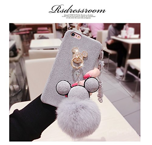 Tianyuanxuan Iphone 7/ 8 Bling Silicone Case for Girls Ring Phone Cover Non-slip Soft Shell for Iphone7/ 8 Protector-Gray