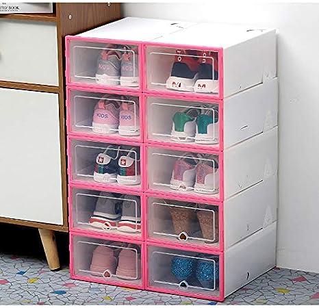 Beiouya - Caja transparente de plástico transparente para zapatos, cajón grueso de polipropileno, caja para sujetadores y