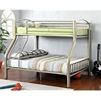HOMES: Inside + Out ioHOMES Metallic Brillia Bunk Bed, Twin/Full, Metallic Gold