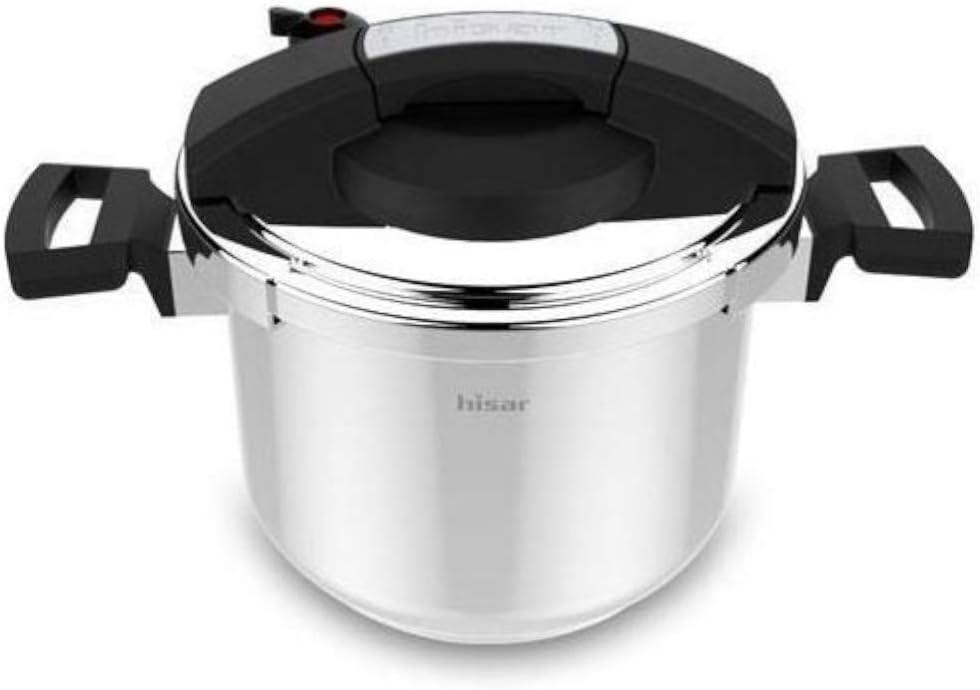 Hisar Neptune Pressure Cooker Black, Presto Canner,Stainless Steel Pressure Cooker 6.4 Quarts,Steam Canner, Pressure Cooker for Canning