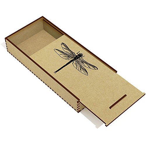 Azeeda 'Dragonfly' Wooden Pencil Case / Slide Top Box (PC00003747)