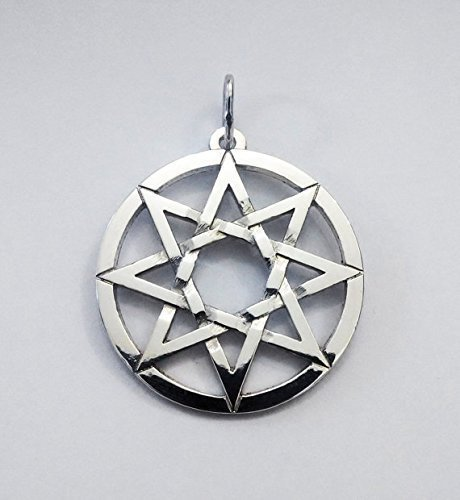 Silver Pendant 8 Pointed Star Octagram Pendant Eight Pointed Star Pendant Handmade by SilverRingshandmade