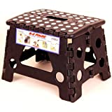 Black Ez Foldz Step Stool / Bench, 9'' High -Affordable Gift for your Loved One! Item #DCHI-XIM-ST22-BLA