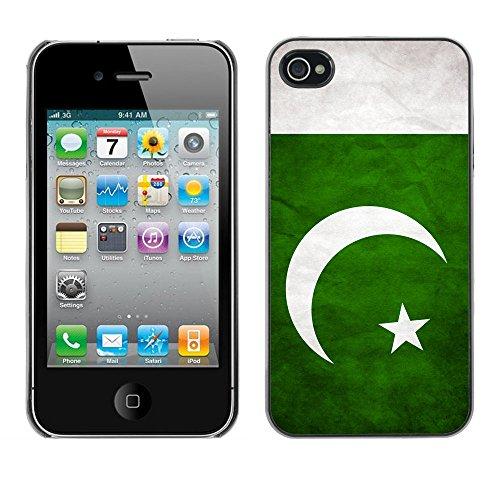 Omega Case PC Polycarbonate Cas Coque Drapeau - Apple iPhone 4 / 4S ( Pakistan Grunge Flag )