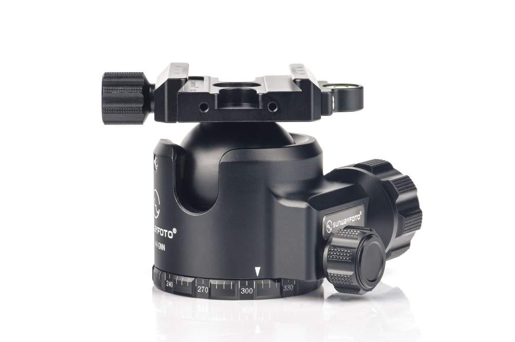SUNWAYFOTO XB-44 GNN No Neck Tripod Ball Head Arca Compatible Low Center of Gravity XB44 Ideal for Target Shooting
