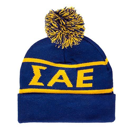 - Sigma Alpha Epsilon Letter Winter Beanie Hat Greek Cold Weather Winter SAE