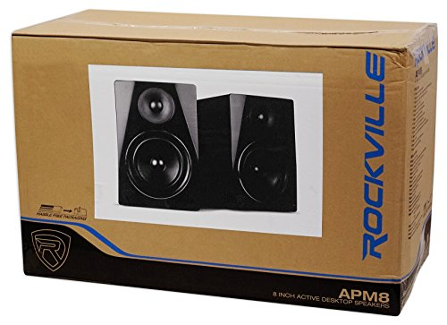 Rockville APM8B 8'' 2-Way 500W Active/Powered USB Studio Monitor Speakers Pair by Rockville (Image #2)