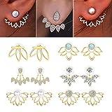 Adramata-6-Pairs-Lotus-Flower-Earrings-for-Women-Girls-Simple-Chic-Fashion-Stud-Earrings