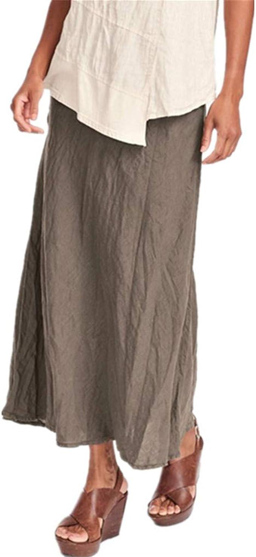 Yying Falda Mujer Retro Largas Suave Cómodo Verano Cintura ...