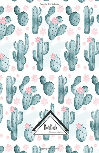 Notebook Journal Bullet Dotted Grid, Graph Line: Light Pink Nature Green Cactus Watercolor Pattern: Journal to Write In, Small Pocket Notebook Journal Diary, 120 Pages, 5.5 X 8.5