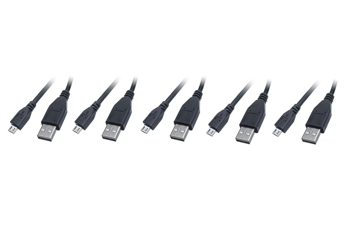 C/&E 5 Pack CNE462542 Black Type A Male//Micro-B Male 3 Feet Micro USB 2.0 Cable